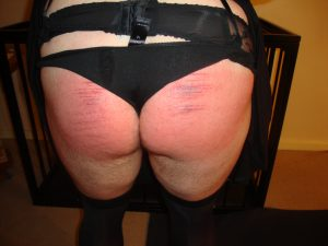 Sissy spanked ass